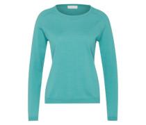Feinstrick-Pullover grün