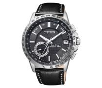 "Armbanduhr mit GPS ""cc3000-03E"" schwarz / silber"