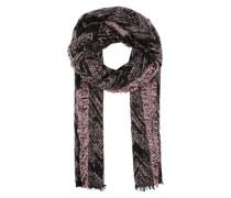 Schal mit Jacquard Muster pink