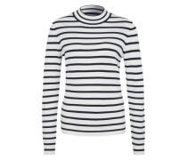 Feinstrickpullover 'Glory Stripes' schwarz / weiß