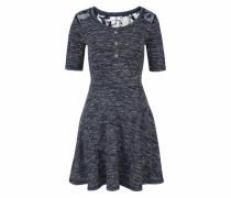 A-Linien-Kleid blaumeliert