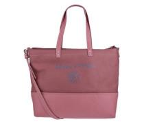 Shopper mit Materialmix blau / pink