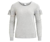 Strick-Bluse 'vimire Knit Top' grau