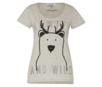 Shirt 'Bear' graumeliert / schwarz