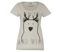 Shirt 'Bear' hellgrau