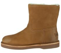 Lederstiefel Short Boot beige