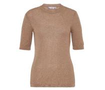 Lurex Pullover mit Halbärmeln gold