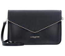 Pearl Schultertasche Leder 24 cm schwarz