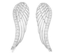 Paar Ohrhaken 'Flügel' silber