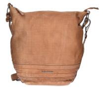 Cut it Vintage Mixpixel Handtasche Leder 37 cm braun