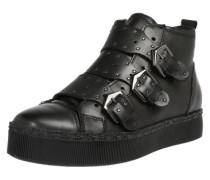 Sneaker mit Schnallen schwarz