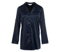 Fearless Satin Pyjama-Shirt blau