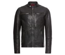 Lederjacke 'real Hero Leather Biker'