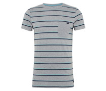 Shirt 'nep tee with printed stripes'