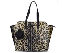 Handtasche in Lederoptik 'Ally' braun