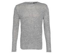 Melierter Pullover grau