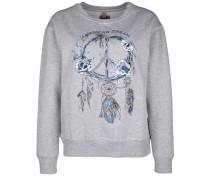 Sweatshirt 'american Dream' blau / grau / weiß