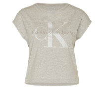 Shirt 'Taka' hellgrau / silber