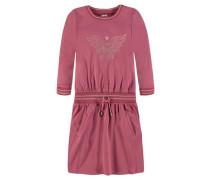 Kleid Mädchen Kinder Kinder gold / hellgrau / pink