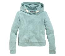 Kapuzensweatshirt in kurzer Form für Mädchen grün
