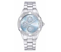 Armbanduhr hellblau / silber