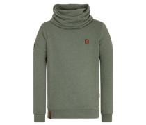 Sweatshirt 'Der Muschiflüsterer' grün