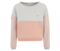 Sweatshirt 'Malibu' pfirsich / graumeliert