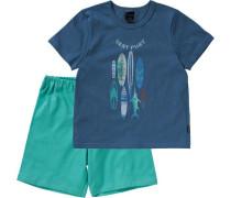 Schlafanzug blau / grün