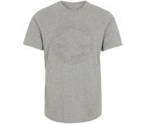 T-Shirt 'Embossed Chuck Patch' grau