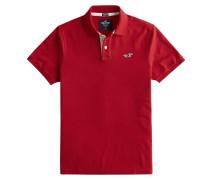 Poloshirt 'Heritage' weiß / rot