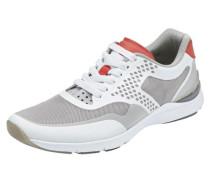Sneaker greige / hellrot / weiß