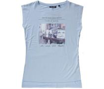 T-Shirt hellblau / rosa / schwarz