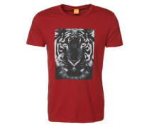 T-Shirt mit Tiger-Print 'Tullian 2' rot