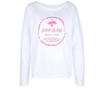 Sweatshirt 'fleece Island' pink / weiß