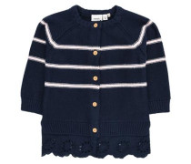 Strick-Cardigan navy / weiß