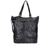 Azalea Shopper Tasche Leder schwarz