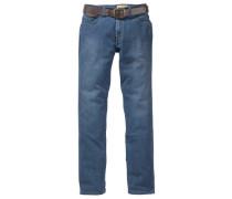 Stretch-Jeans marine / rauchblau