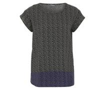 Blusenshirt mit Allover-Print schwarz