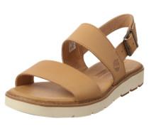 Sandale mit dicker Sohle beige / weiß