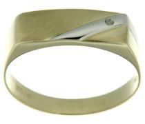 Siegelring mit Diamant gold / silber