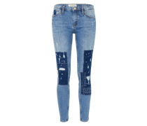 Jeans mit Patches blue denim