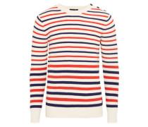 Pullover in maritimer Optik dunkelblau / rot / weiß