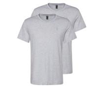 T-Shirt 'Base Htr' im 2er Pack grau