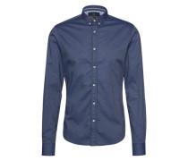 Hemd im Allover-Design dunkelblau