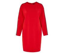 Kleid mit Track-Stripes rot / schwarz / weiß
