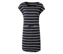 Jerseykleid 'Onlmay' nachtblau / weiß