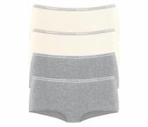 Panty (4 Stück) creme / graumeliert