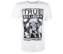 T-Shirt 'headdress' schwarz / weiß