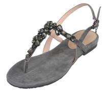 Sandalen mit Glitzersteinen anthrazit