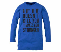 Langarmshirt extra-lang blau
